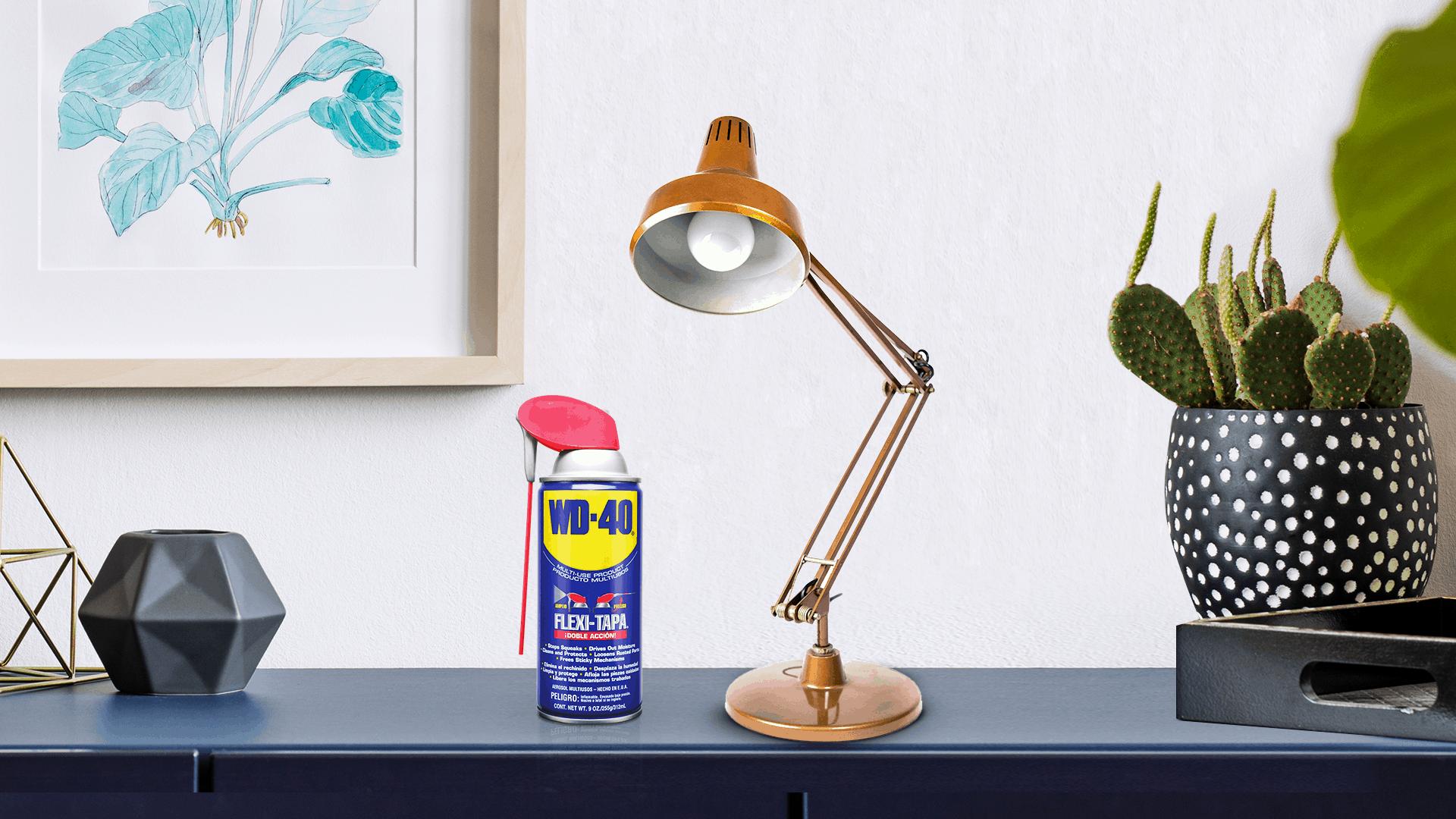 cómo limpiar y pulir lámpara de metal
